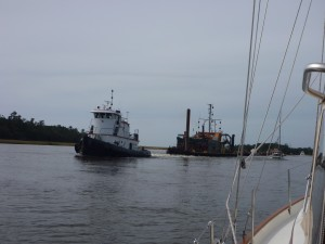 Tug and dredge equip